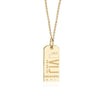 Gold Caribbean Charm, VIJ Virgin Gorda Luggage Tag - JET SET CANDY