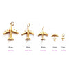 Gold Airplane Charm, Small (SHIPS JUNE) - JET SET CANDY