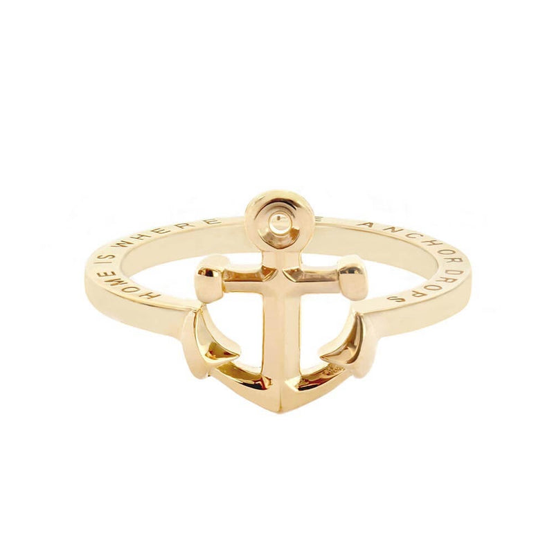 Gold Anchor Ring - JET SET CANDY