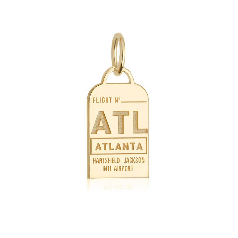 Gold USA Charm, ATL Atlanta, Georgia Luggage Tag - JET SET CANDY
