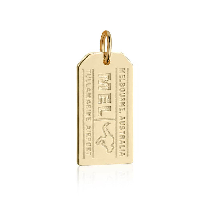 Gold Australia Charm, Melbourne MEL Luggage Tag - JET SET CANDY