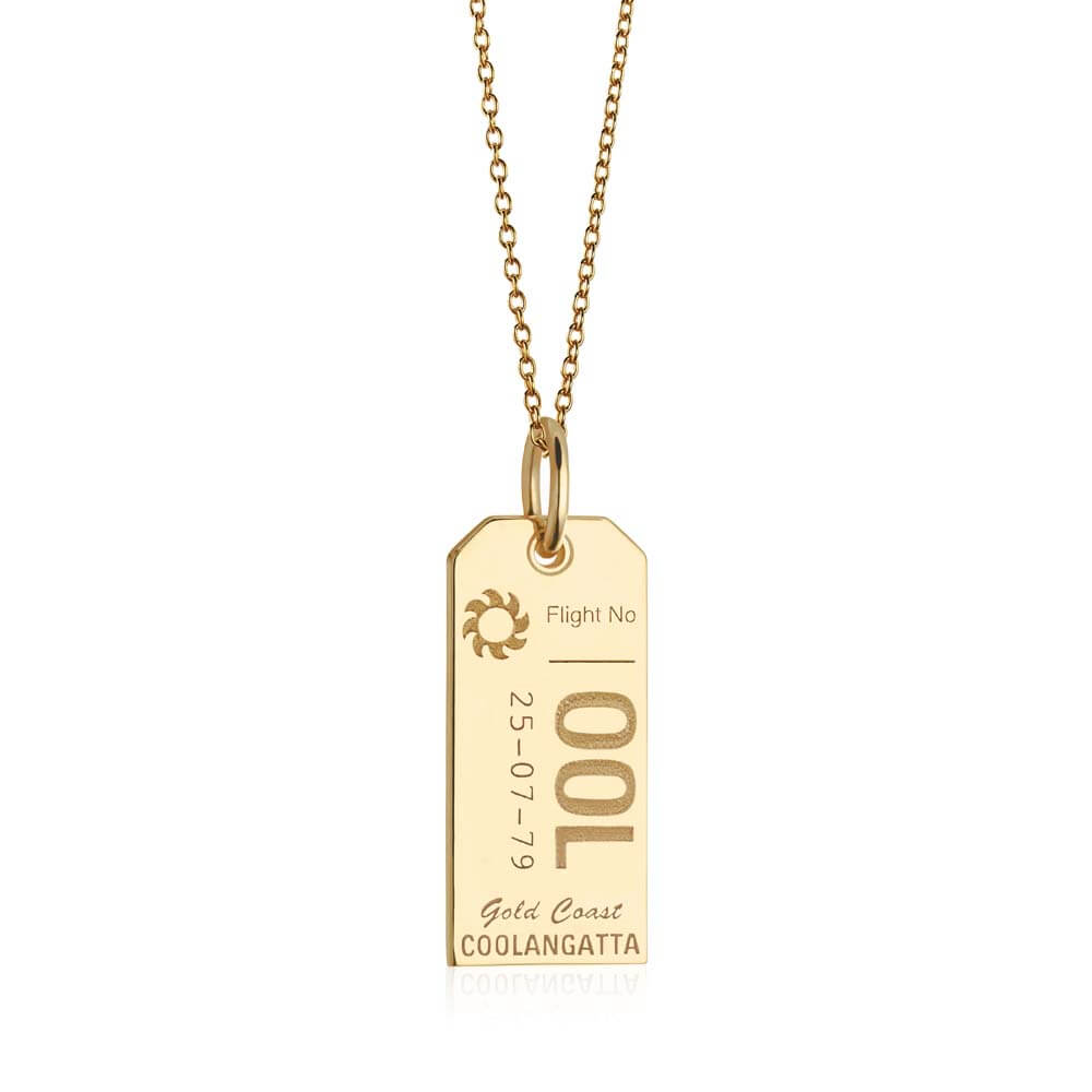 Gold Australia Charm, OOL Gold Coast Luggage Tag - JET SET CANDY