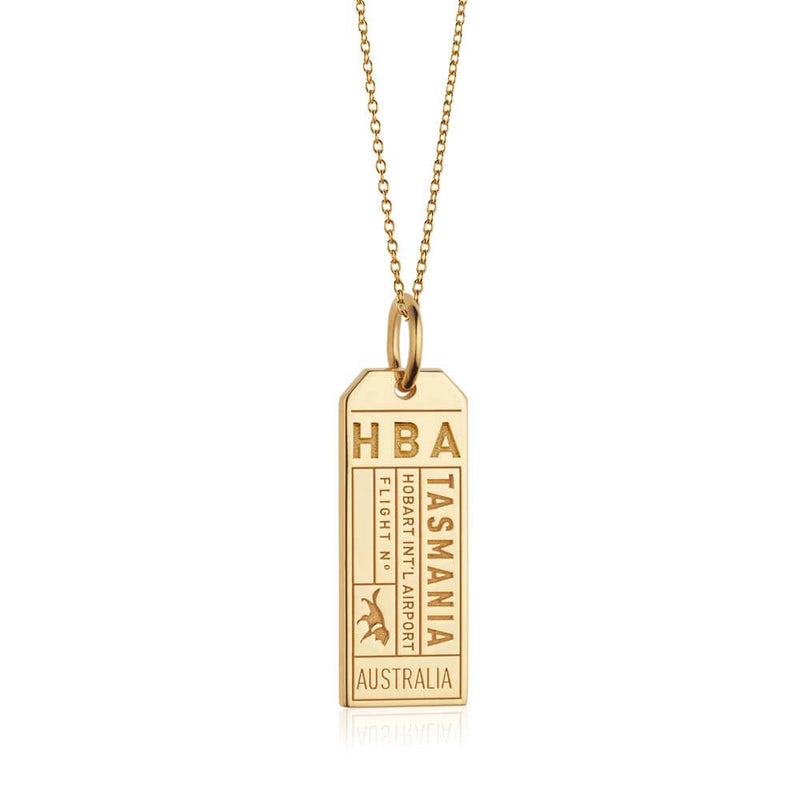 Gold Australia Charm, HBA Tasmania Luggage Tag - JET SET CANDY
