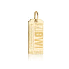 Gold USA Charm, BWI Baltimore Luggage Tag - JET SET CANDY