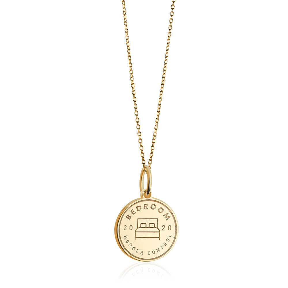 PRE ORDER: Gold Bedroom Passport Stamp Charm (SHIPS LATE APRIL)