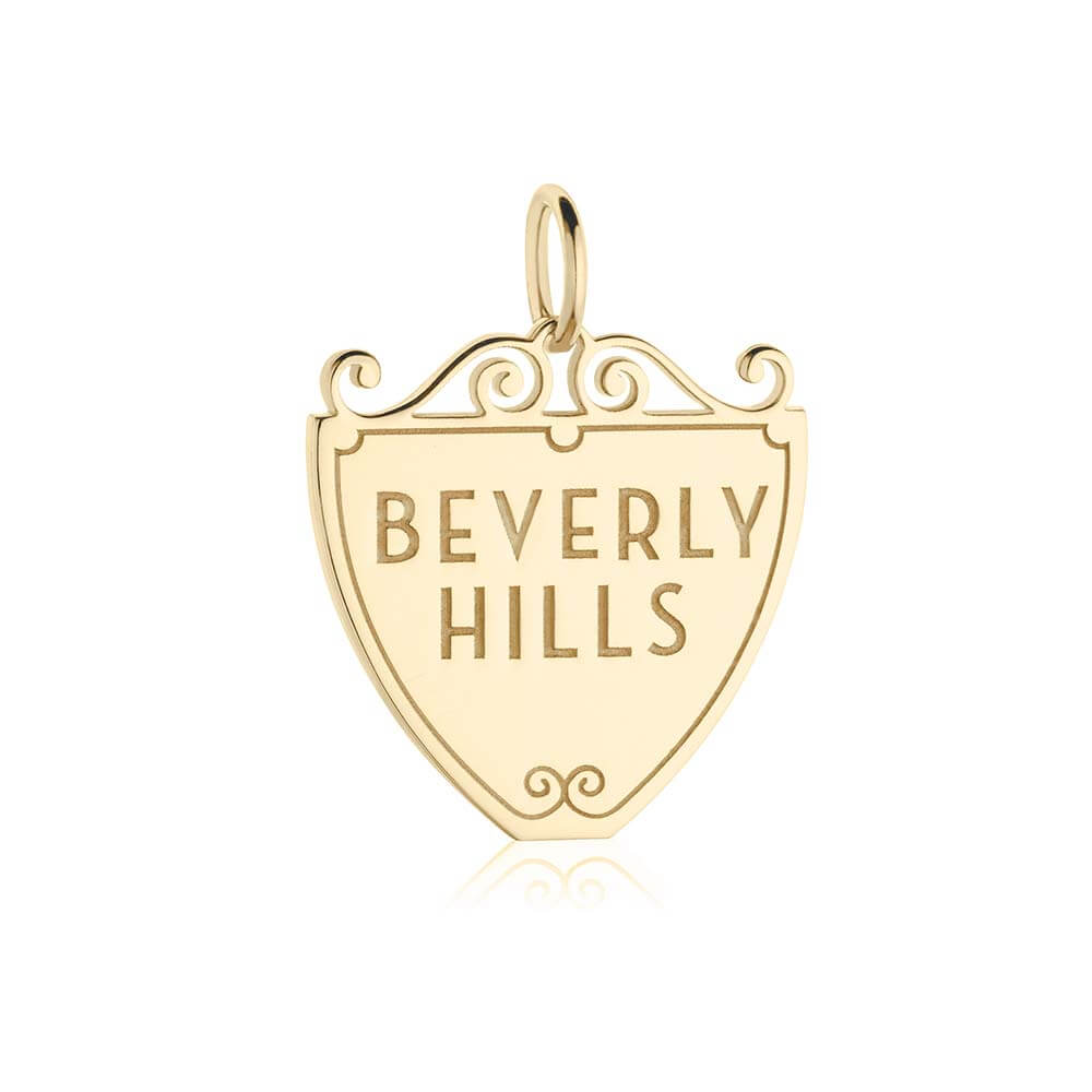 Gold Beverly Hills Charm, 90210 Sign - JET SET CANDY