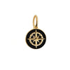 Mini Gold Black Enamel Compass Charm (BACK-ORDER-SHIPS APRIL) - JET SET CANDY