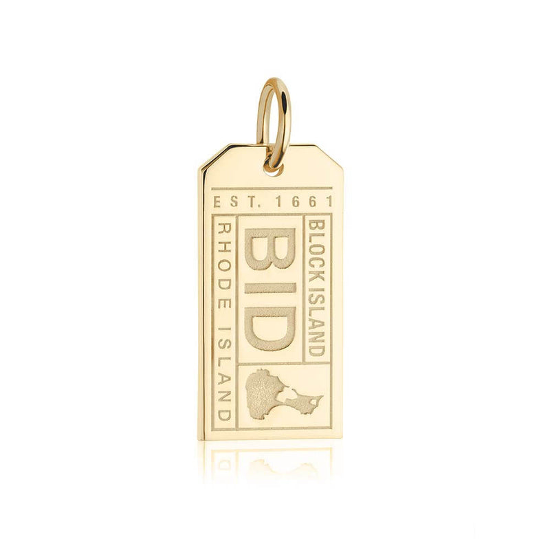 Gold USA Charm, BID Block Island Luggage Tag - JET SET CANDY