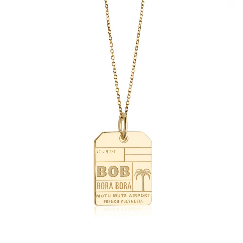 Gold Travel Charm, BOB Bora Bora Luggage Tag - JET SET CANDY
