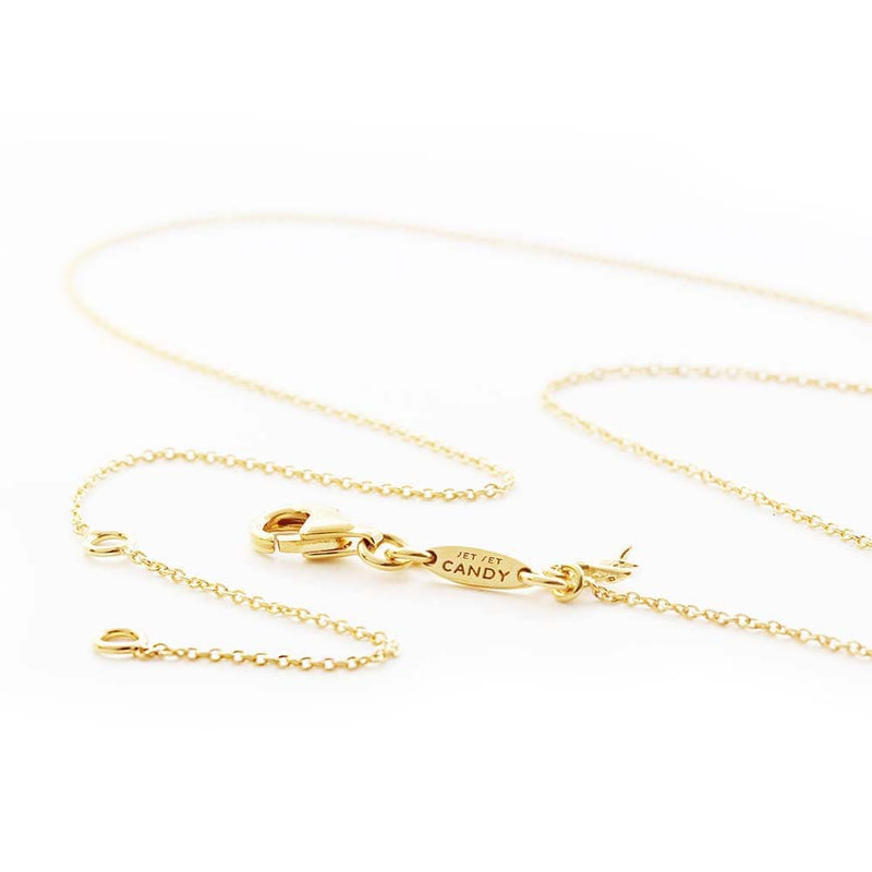 Mini Gold 3 Leaf Clover Charm Necklace