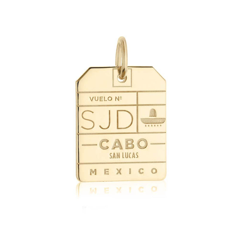 Gold Mexico Charm, SJD Los Cabos Luggage Tag - JET SET CANDY
