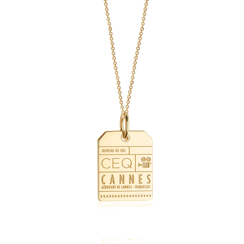 Gold France Charm, CEQ Cannes Luggage Tag - JET SET CANDY