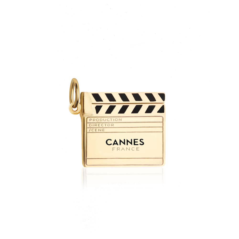 Gold Cannes Clapboard Charm - JET SET CANDY