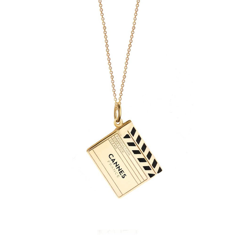 Gold Cannes Clapboard Charm (SHIPS JUNE) - JET SET CANDY