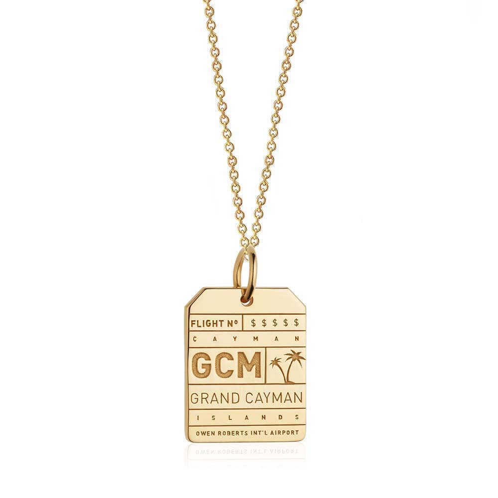 Gold Cayman Islands Charm, GCM Luggage Tag - JET SET CANDY