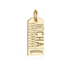 Gold Chattanooga, Tennessee CHA Luggage Tag Charm - JET SET CANDY