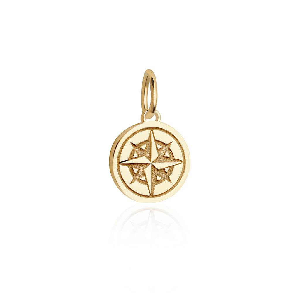 Mini Gold Compass Charm