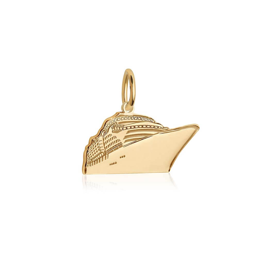 Gold Cruise Ship Charm - JET SET CANDY