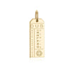 Gold Vermeil Ireland Charm, DUB Dublin Luggage Tag - JET SET CANDY