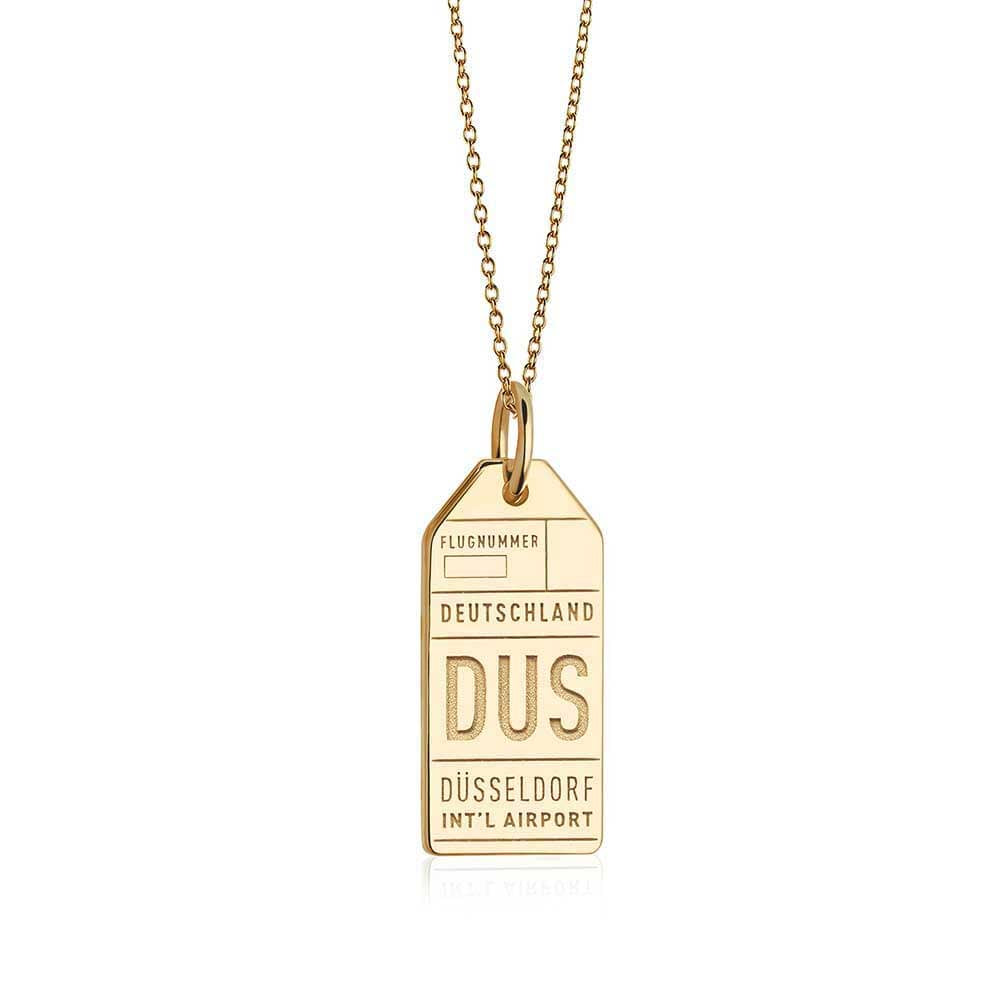 Gold Germany Charm, DUS Dusseldorf Luggage Tag - JET SET CANDY