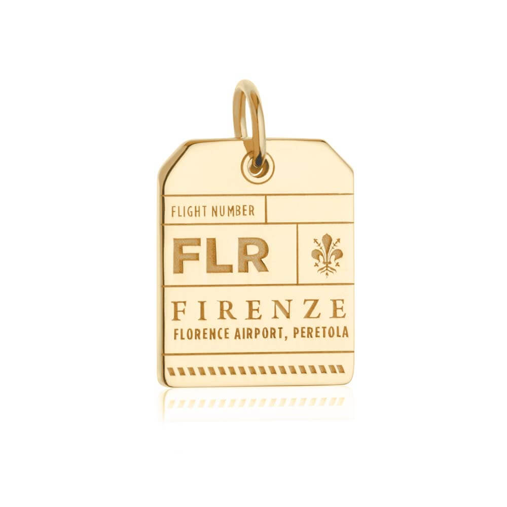 Gold Italy Charm, FLR Florence Luggage Tag - JET SET CANDY