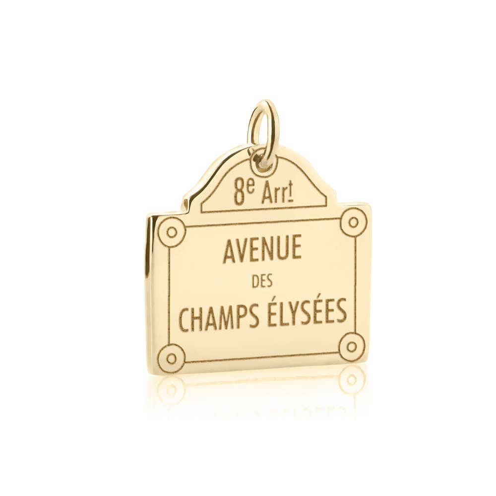 Gold Champs-Élysées Sign Charm - JET SET CANDY