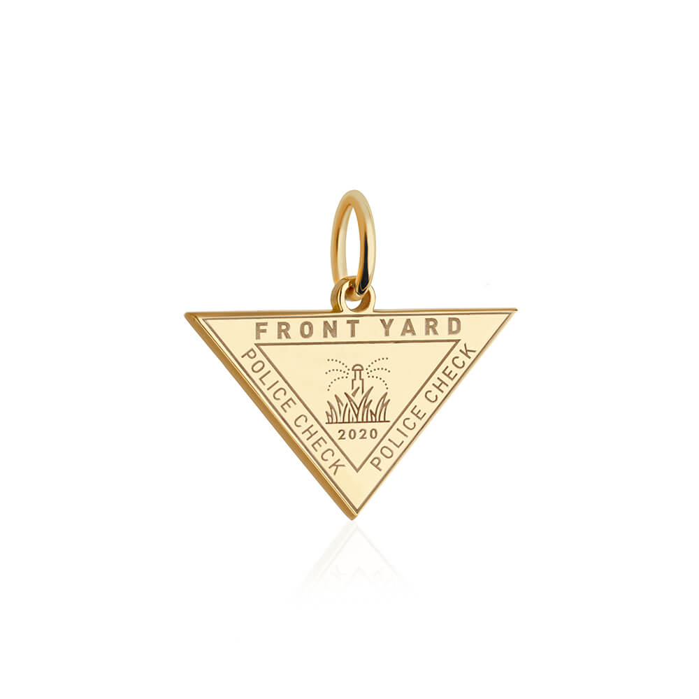 PRE ORDER: Gold Front Yard Passport Stamp Charm (SHIPS LATE MARCH)