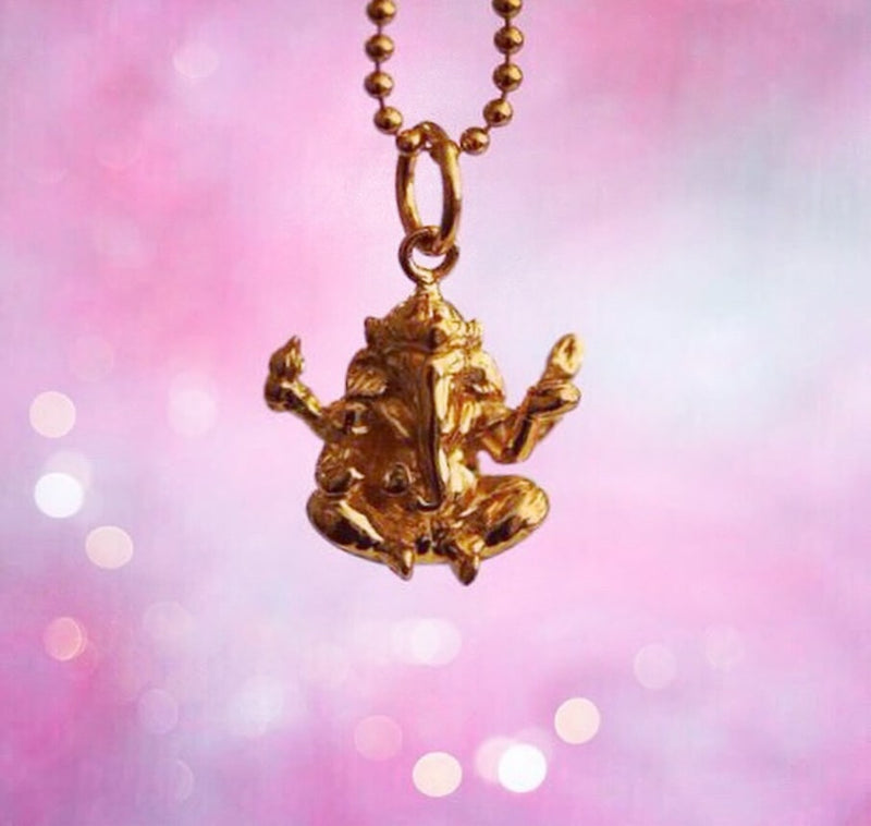 Gold Ganesha Charm - JET SET CANDY
