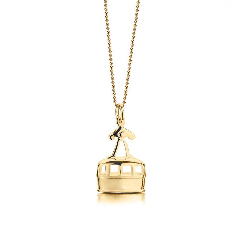 Solid Gold Gondola Charm - JET SET CANDY