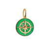 Large Gold Green Enamel Compass Charm - JET SET CANDY