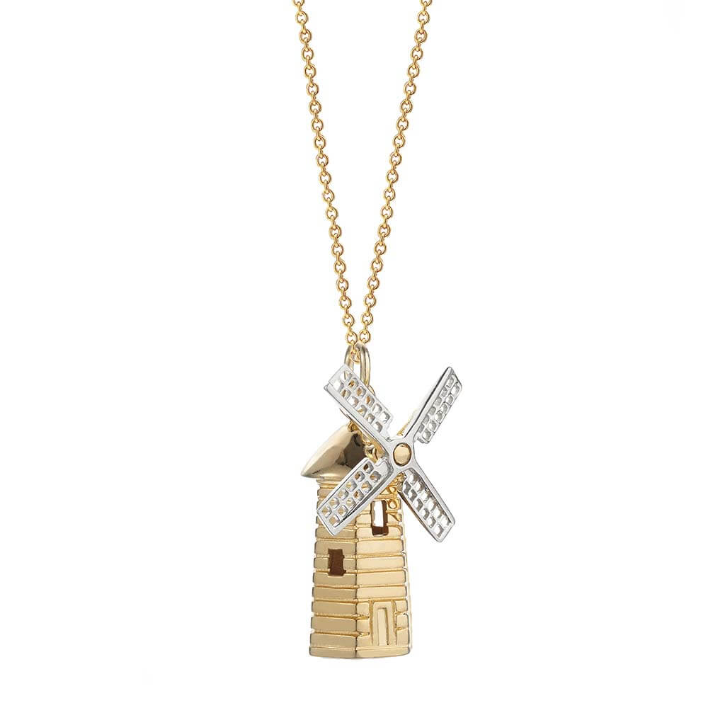 Amsterdam Windmill Charm, Two-Tone - JET SET CANDY