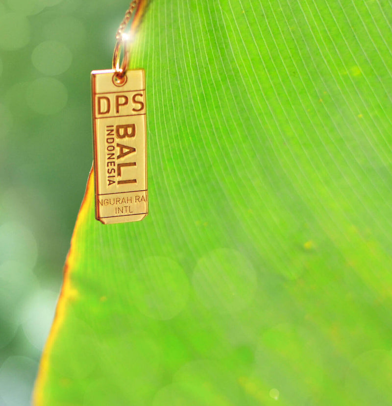 Gold Asia Charm, DPS Bali Luggage Tag - JET SET CANDY