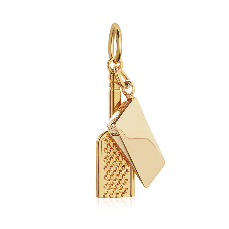 Gold Italy Charm, Parmesan Cheese & Grater