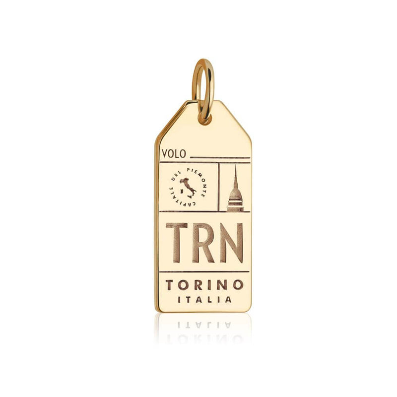 Gold Italy Charm, TRN Torino Luggage Tag - JET SET CANDY