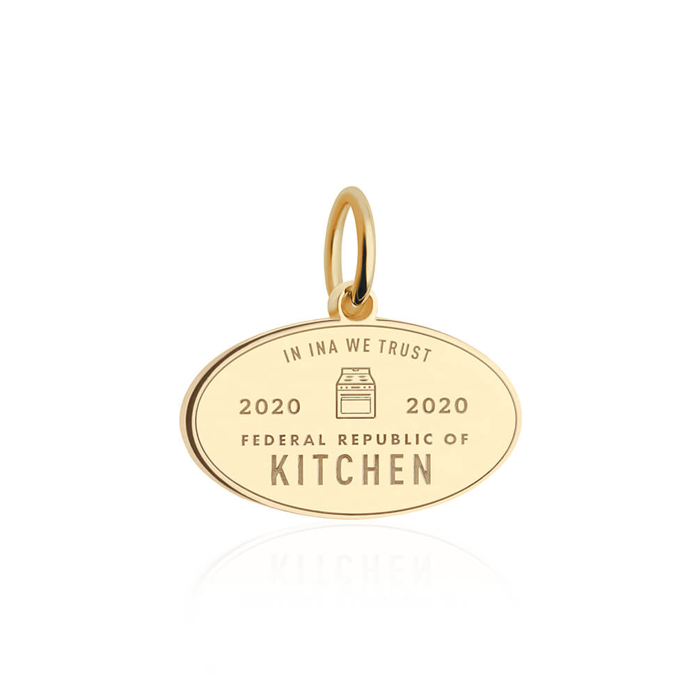 PRE ORDER: Gold Federal Republic of Kitchen Passport Stamp Charm (SHIPS LATE APRIL)