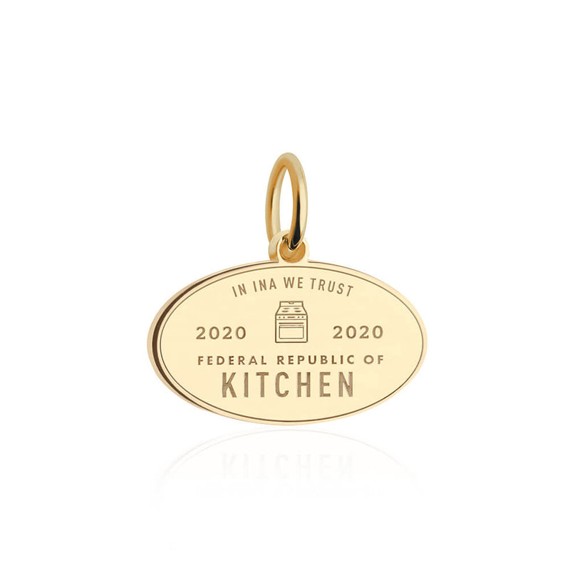 PRE ORDER: Gold Federal Republic of Kitchen Passport Stamp Charm (SHIPS MID MARCH.)