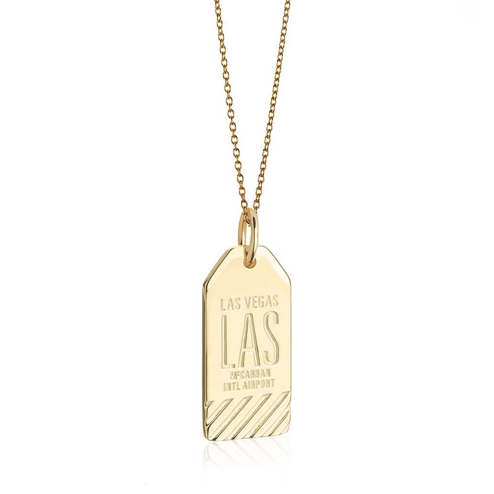 Gold Las Vegas Charm, LAS Luggage Tag - JET SET CANDY
