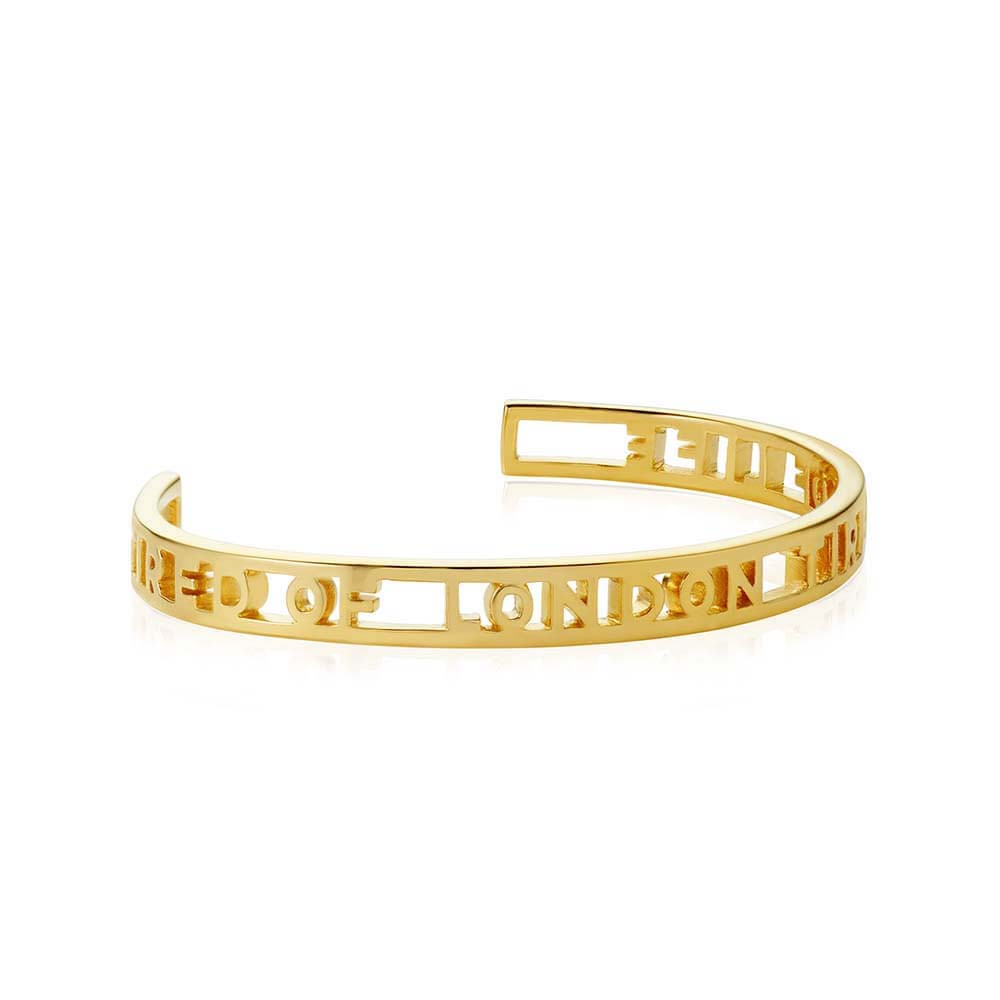Gold London Cutout Cuff Bracelet - JET SET CANDY