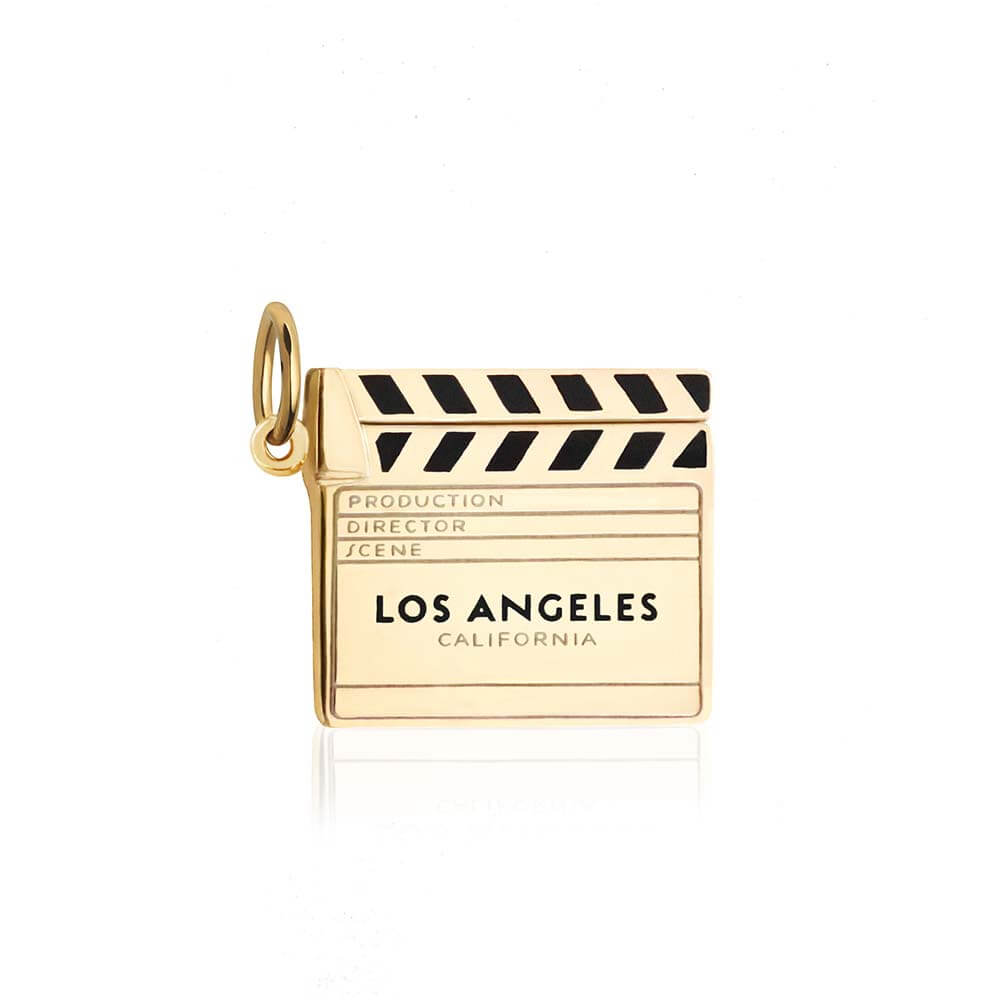 Gold LA Charm, Clapboard - JET SET CANDY