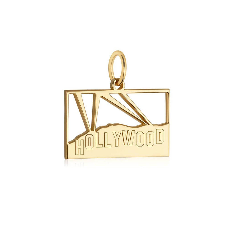 Gold LA Charm, Hollywood Hills Sign - JET SET CANDY