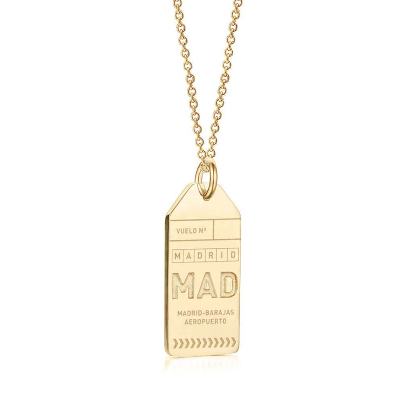 Gold Spain Charm, MAD Madrid Luggage Tag (BACK-ORDER-SHIPS APRIL) - JET SET CANDY