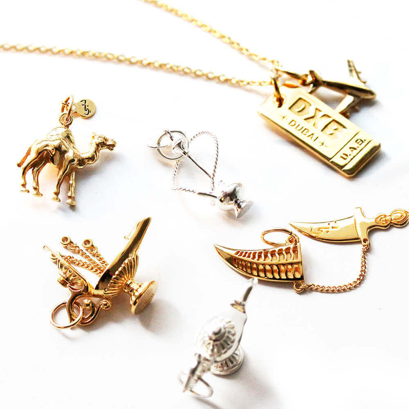 Gold Dubai Charm, Magic Lamp with 3 Wishes - JET SET CANDY