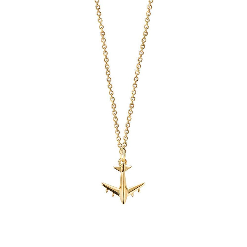 Gold Airplane Charm, Mini (SHIPS JUNE) - JET SET CANDY