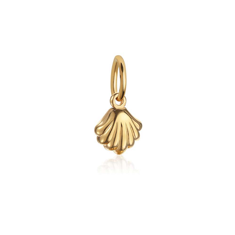 Solid Gold Mini Clamshell Charm - JET SET CANDY
