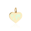 Medium Gold World Heart Map Charm with Mint Enamel