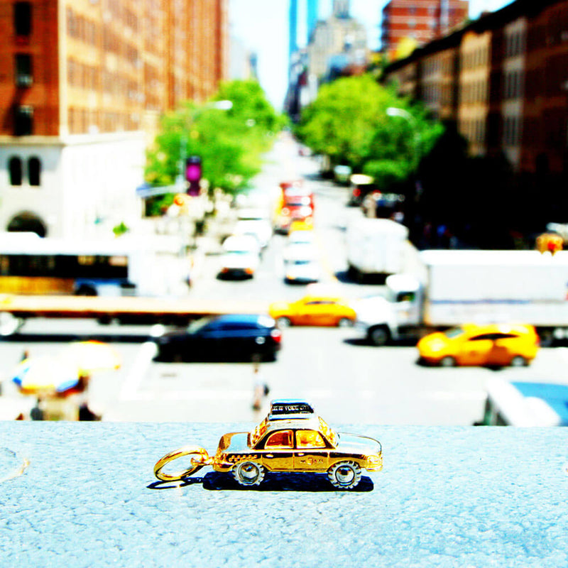 Two-tone New York Taxi Charm - JET SET CANDY