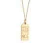 Gold Vermeil France Charm, NCE Nice Luggage Tag - JET SET CANDY