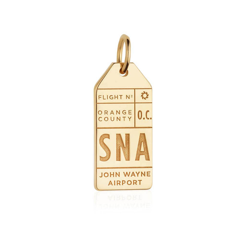 Gold California Charm, SNA Santa Ana Luggage Tag - JET SET CANDY