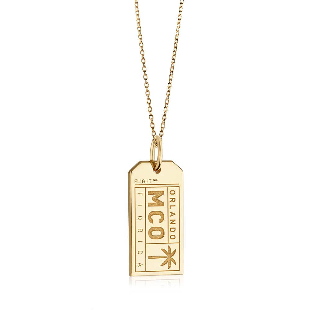 Gold Florida Charm, MCO Orlando Luggage Tag (BACK-ORDER-SHIPS LATE FEBRUARY/EARLY MARCH) - JET SET CANDY