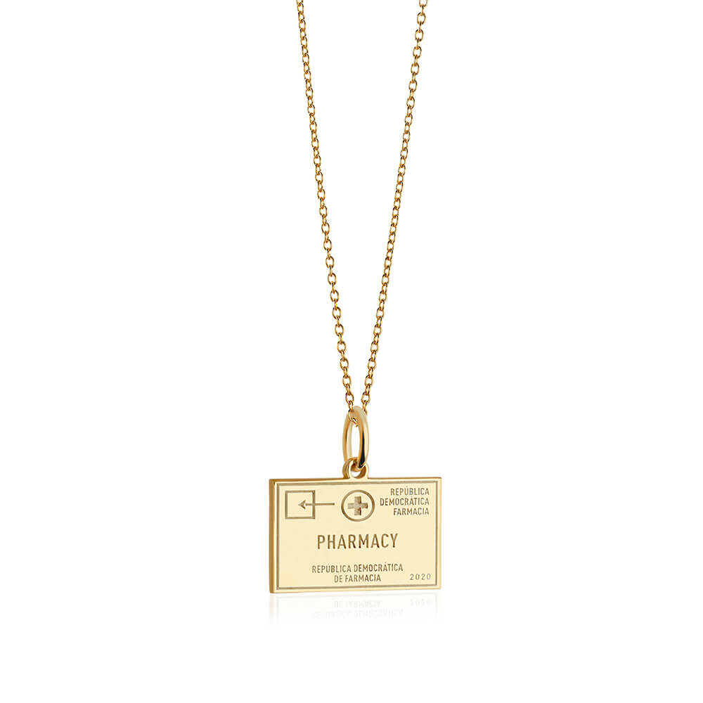 PRE ORDER: Gold Pharmacy Passport Stamp Charm (SHIPS MID MARCH)